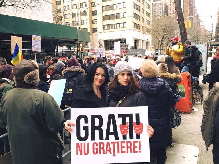 Silvia Launeanu protest New York