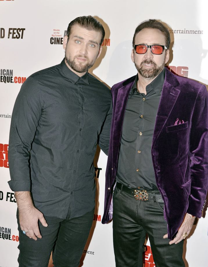 LOS ANGELES, CA - SEPTEMBER 30: Weston Cage and Nicolas Cage at the retrospective of Paul SchraderÕs body of work and The Beyond Fest Screening and Retrospective of Dog Eat Dog hosted by American Cinematheque at the Egyptian Theatre in Los Angeles, California on September 30, 2016. Credit: Koi Sojer/Snap'N U Photos/MediaPunch Credit: MediaPunch/face to face