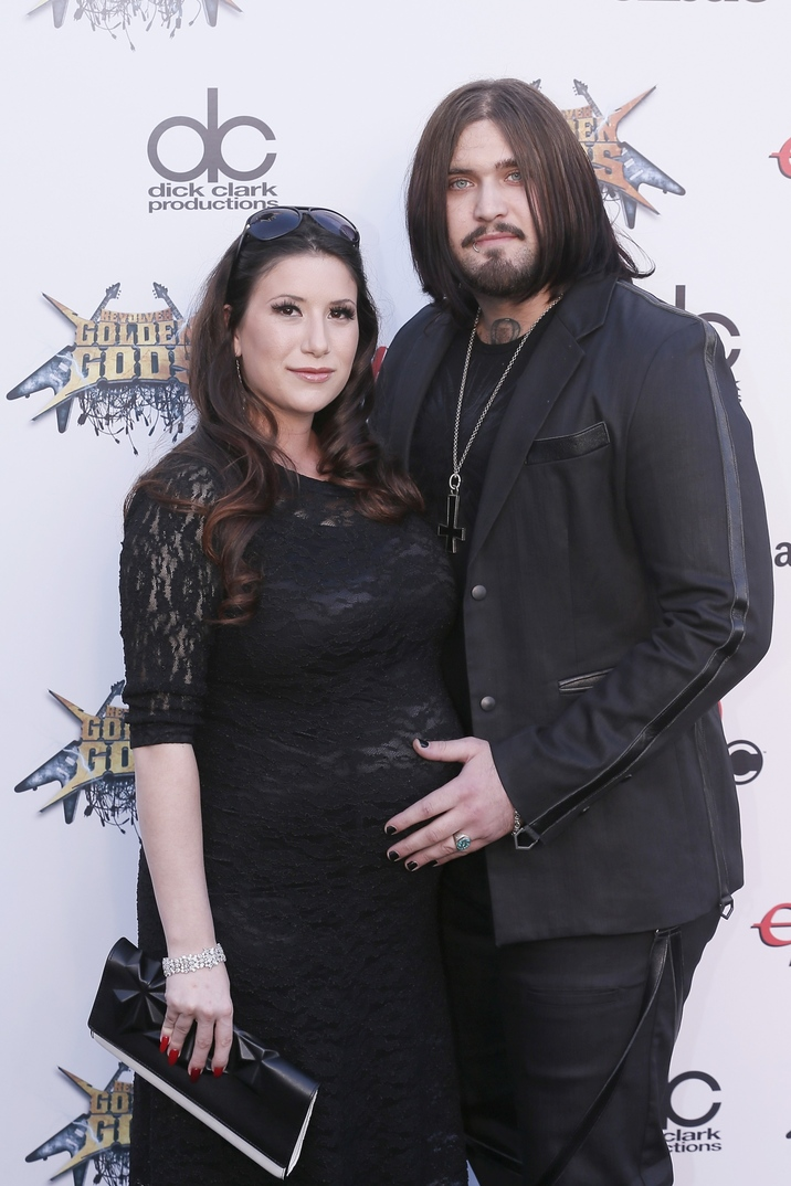 Weston Cage and wife attend the 6th Annual Revolver Golden Gods Award Show at Club Nokia  in Los Angeles, CA, on April 23, 2014. Photo by Julian Da Costa / ABACAUSA.COM