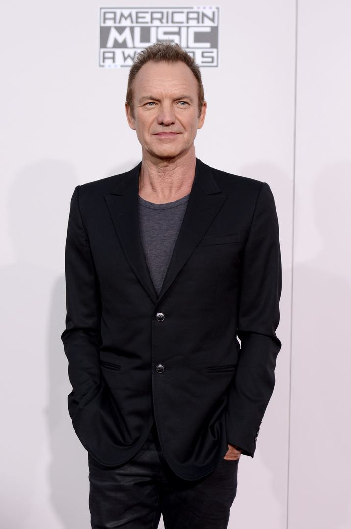 Sting attends the 2016 American Music Awards at Microsoft Theater on November 20, 2016 in Los Angeles, CA, USA. Photo by Lionel Hahn/ABACAPRESS.COM