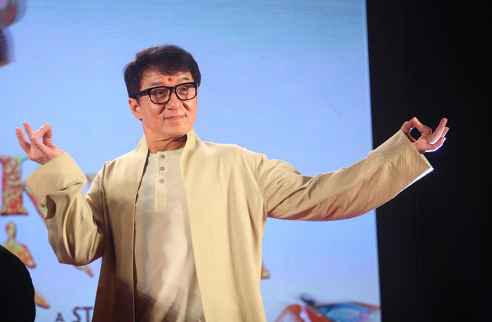"MUMBAI, INDIA - JANUARY 23: Actor Jackie Chan gestures during the promotion of his new movie ""Kung Fu Yoga"" in Mumbai, India on January 23, 2017. Imtiyaz Shaikh / Anadolu Agency"