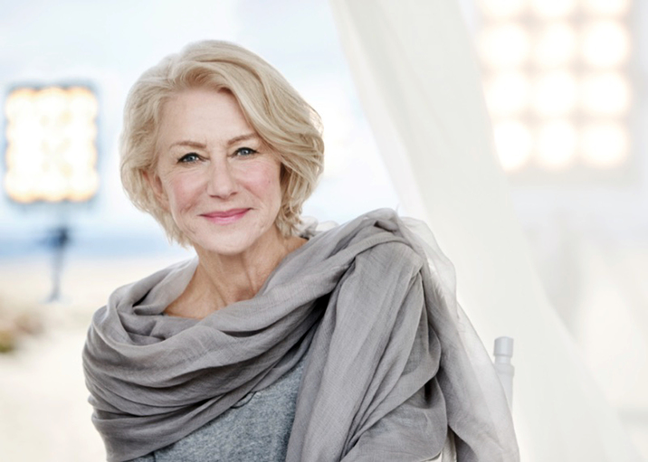 , , 28, March 2016.- Hollywood's star Hellen Mirren is the face of L'Oreal Paris Age Perfect 2016 campaign ©DJ / LAN - 28/3/16 **Hands out pics**