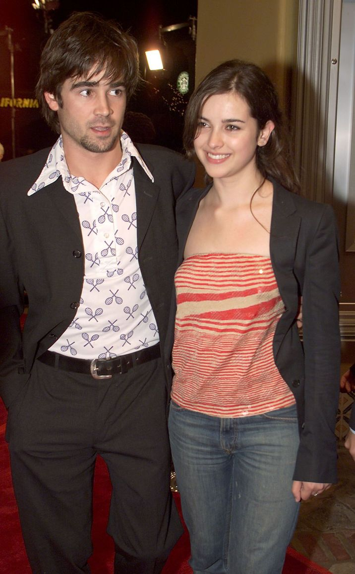 Colin Farrell and Amelia Warner at the premiere of 'Castaway' at the Village Theater in Los Angeles, Ca. 12/7/00. (Photo by Kevin Winter/Getty Images.)