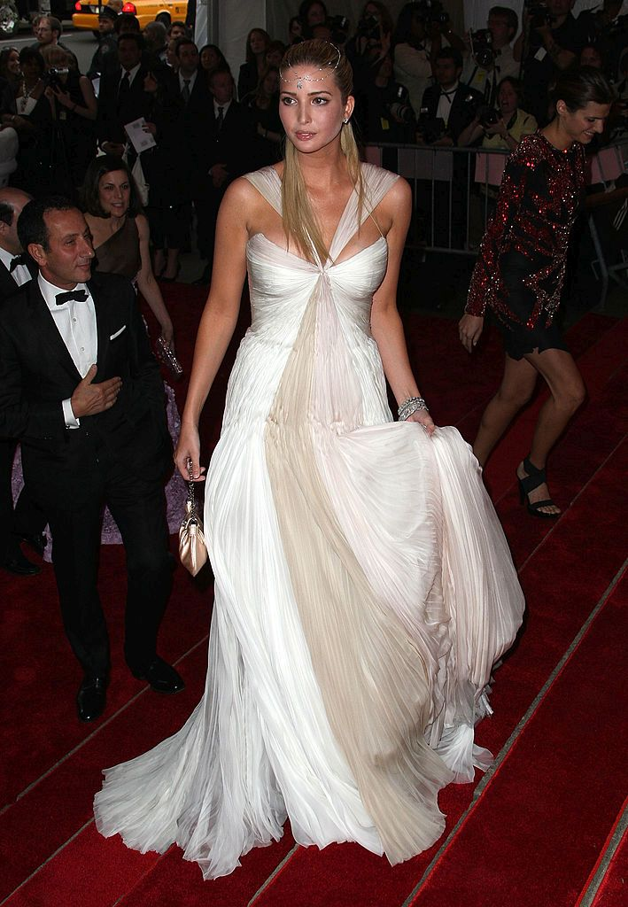 NEW YORK - MAY 05: TV personality Ivanka Trump arrives to the Metropolitan Museum of Art Costume Institute Gala, Superheroes: Fashion and Fantasy, held at the Metropolitan Museum of Art on May 5, 2008 in New York City.  (Photo by Andrew H. Walker/Getty Images)
