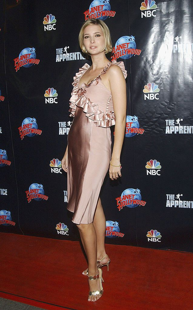 NEW YORK - MAY 19: Ivanka Trump arrives at the The Apprentice - Finale After Party, at Planet Hollywood, Times Square on May 19, 2005 in New York City.  (Photo by Brad Barket/Getty Images)