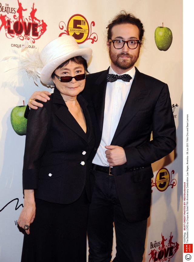 Mandatory Credit: Photo by REX/Shutterstock (1339746ag) Yoko Ono and Sean Lennon The Beatles LOVE by Cirque du Soleil Fifth Anniversary Celebration, Las Vegas, America - 08 Jun 2011