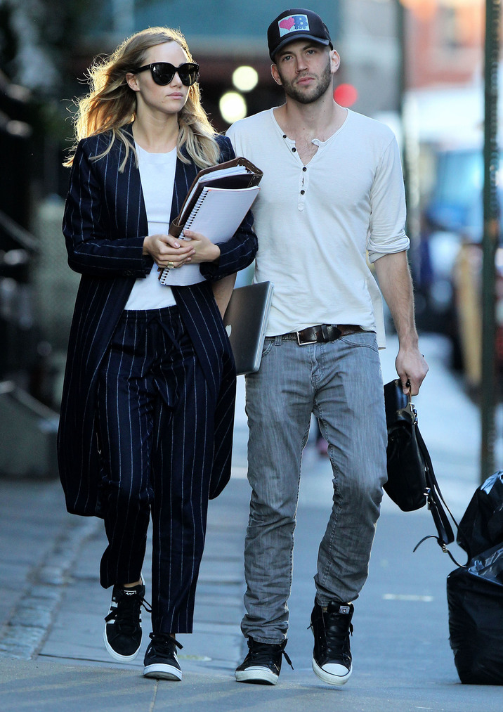 Suki Waterhouse Out With A Male Friend In NYC