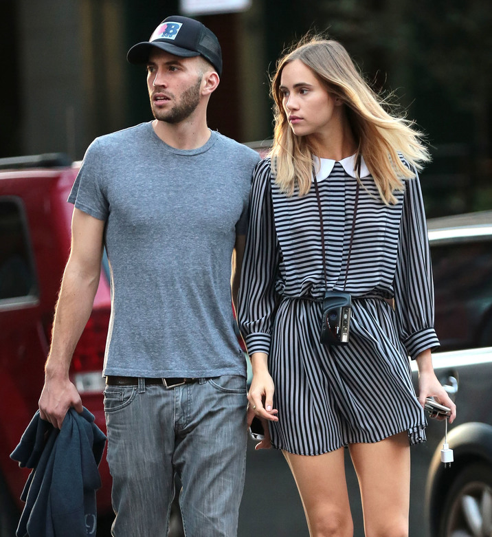 51850896 Model Suki Waterhouse and filmmaker Aram Rappaport are seen getting close while out and about in New York City, New York on September 15, 2015. The pair have been spending a lot of time together lately but deny they are in a relationship. FameFlynet, Inc - Beverly Hills, CA, USA - +1 (818) 307-4813