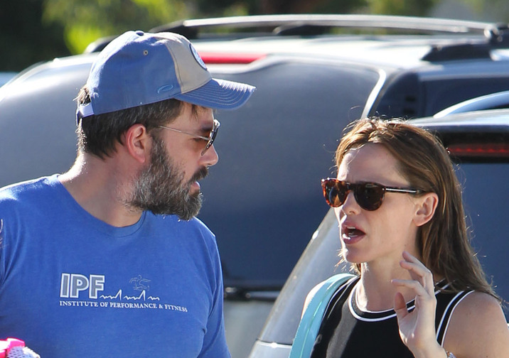 Ben Affleck and Jennifer Garner take their children to the Pacific Palisades Farmers Market. At one point during the trip, the Hollywood couple appeared to be having a tense discussion. Ben could be seen without his wedding ring. Featuring: Ben Affleck, Jennifer Garner Where: Los Angeles, California, United States When: 20 Sep 2015 Credit: CMJ/WENN.com