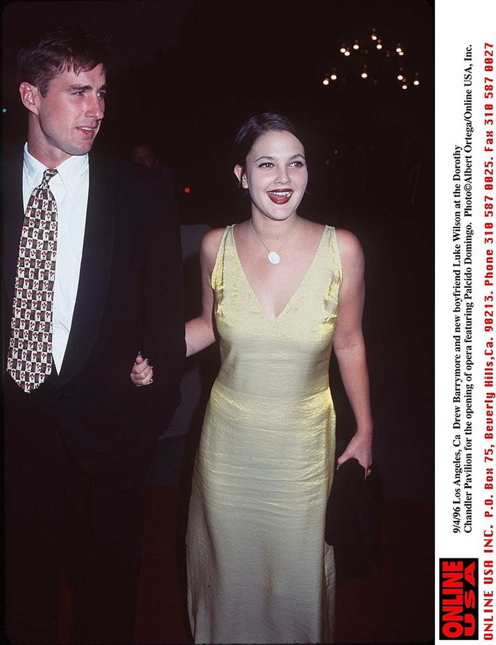 9/4/96 Los Angeles, Ca Drew Barrymore and new boyfriend Luke Wilson at the opening of an opera featuring Placido Domingo.