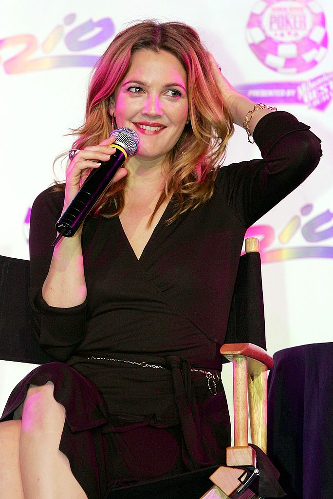 LAS VEGAS - JULY 27:  Actress Drew Barrymore speaks during a news conference to promote her upcoming poker-themed movie ''Lucky You'' at the 2006 World Series of Poker at the Rio Hotel & Casino July 27, 2006 in Las Vegas, Nevada. The film comes out in September 2006.  (Photo by Ethan Miller/Getty Images)