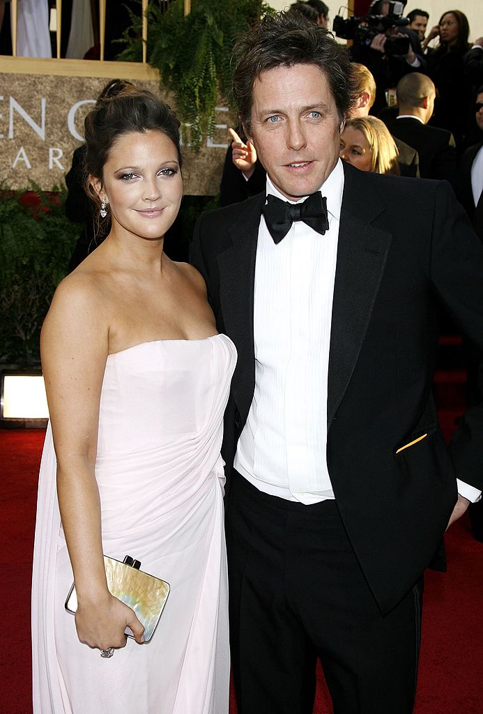 BEVERLY HILLS, CA - JANUARY 15: Actors Drew Barrymore and Hugh Grant arrive at the 64th Annual Golden Globe Awards at the Beverly Hilton on January 15, 2007 in Beverly Hills, California. (Photo by Kevin Winter/Getty Images)