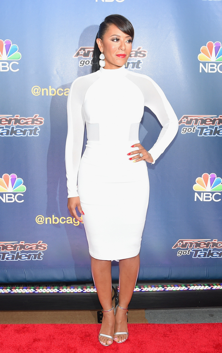 "NEW YORK, NY - AUGUST 11:  Singer/TV personality Mel B attends the ""America's Got Talent"" season 10 taping at Radio City Music Hall on August 11, 2015 in New York City.  (Photo by Michael Loccisano/Getty Images)"