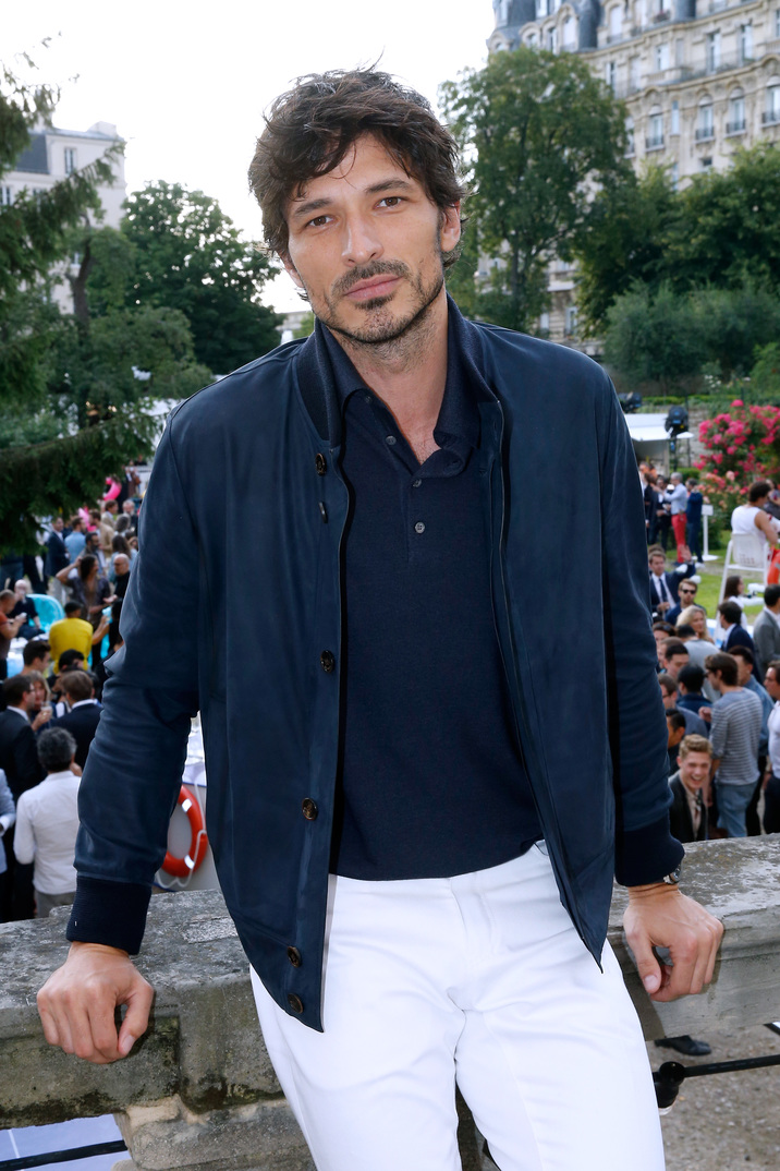 PARIS, FRANCE - JUNE 24:  Model Andres Velencoso Segura attends the Berluti Menswear Spring/Summer 2017 show as part of Paris Fashion Week on June 24, 2016 in Paris, France.  (Photo by Bertrand Rindoff Petroff/Getty Images)