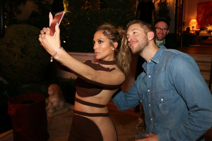 """LAS VEGAS, NEVADA - JULY 23, 2016 JLo (Jennifer Lopez) & Calvin Harris at the Jlo """"All I Have"""" After Show birthday celebration at the Caesars Palace, July 23, 2016 in Las Vegas Nevada. Credit: Walik Goshorn / Mediapunch Credit: MediaPunch/face to face"""