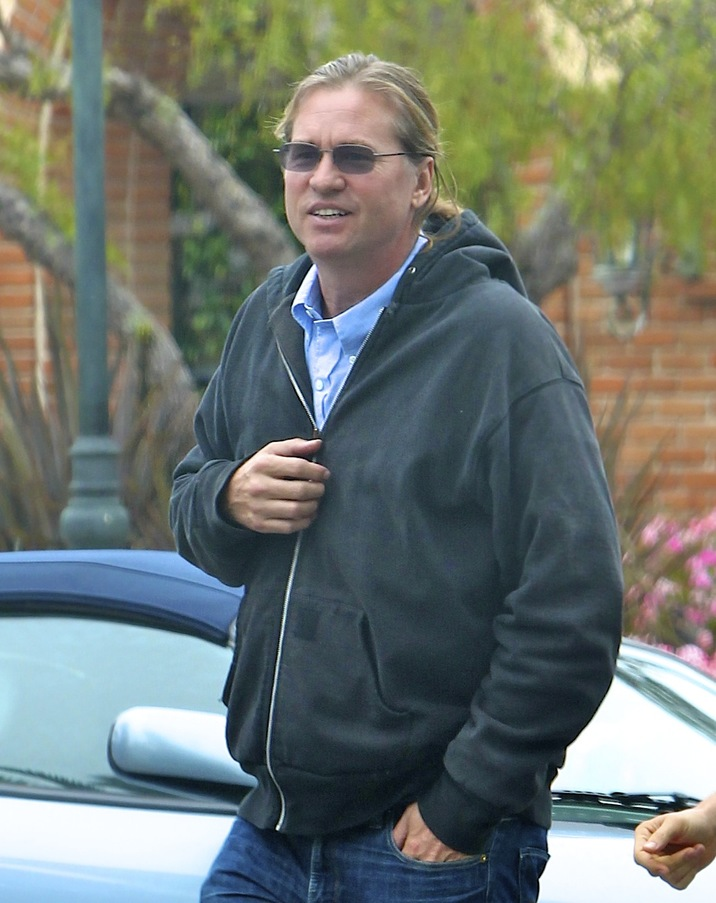 ©NATIONAL PHOTO GROUP  Val Kilmer is all smiles out and about with a friend in Malibu.  Job: 062112C15 EXCLUSIVE June 21st, 2012 Malibu, CA NPG.com