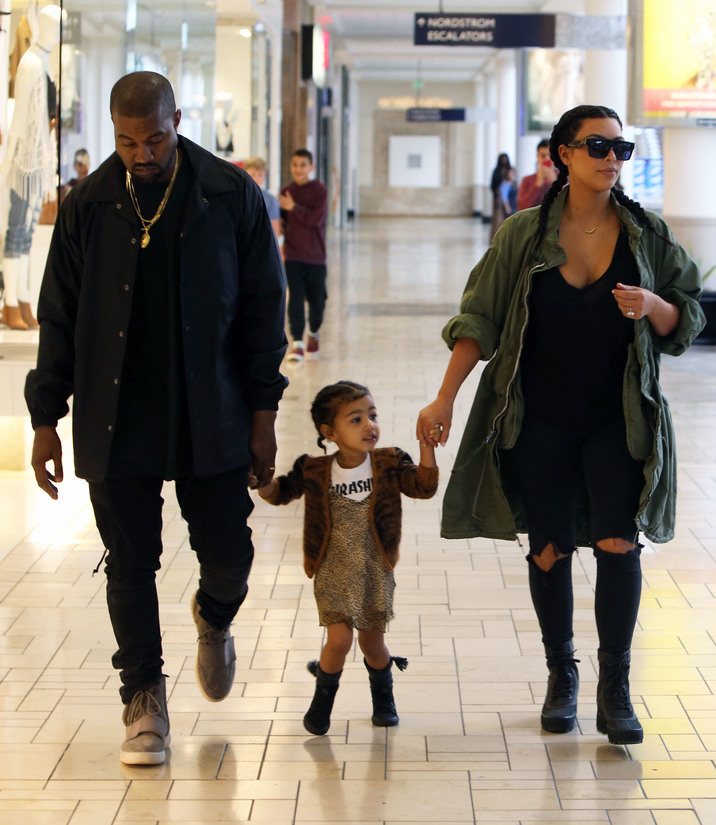 Kim Kardashian And Kanye West Take North To A Birthday Party