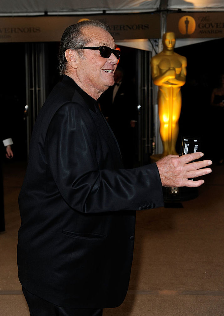 LOS ANGELES, CA - NOVEMBER 14:  Actor Jack Nicholson arrives at the Academy of Motion Picture Arts and Sciences' Inaugural Governors Awards held at the Grand Ballroom at Hollywood & Highland Center on November 14, 2009 in Los Angeles, California.  (Photo by Kevork Djansezian/Getty Images)