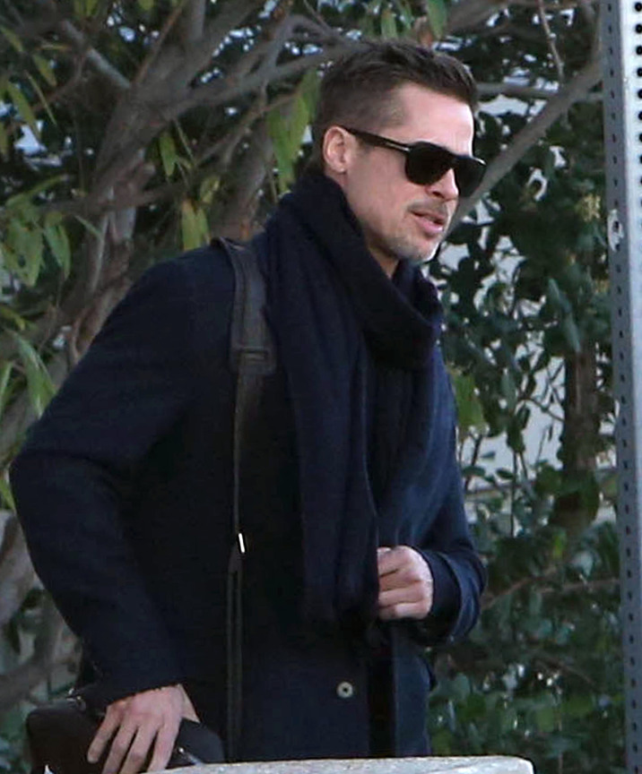 Exclusive... 52287834 Actor Brad Pitt was spotted leaving a luxury Hotel in Los Angeles, California after spending the night. Pitt, still locked in a heated custody battle with ex-wife Angelina Jolie, seemed to have the opportunity to have visitation time to throw a mistery party. Upon checking out of the hotel, the bodyguard was spotted leaving with lots of Champagne and loading balloons and decorations used for the celebration. ***NO USE W/O PRIOR AGREEMENT - CALL FOR PRICING*** FameFlynet, Inc - Beverly Hills, CA, USA - +1 (310) 505-9876