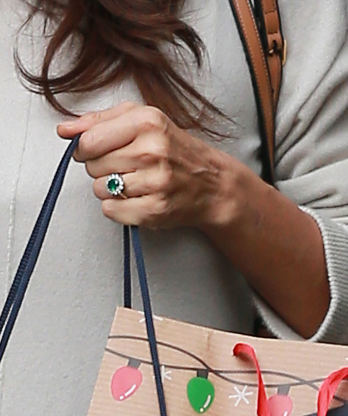 52263117 Pregnant model Irina Shayk  is spotted returning to the Beverly Hills Hotel after doing some holiday shopping on December 21, 2016 in Beverly Hills, California. Irina, who is expecting her first child with actor Bradley Cooper, could be a seen sporting an emerald ring on her left hand during the outing. FameFlynet, Inc - Beverly Hills, CA, USA - +1 (310) 505-9876