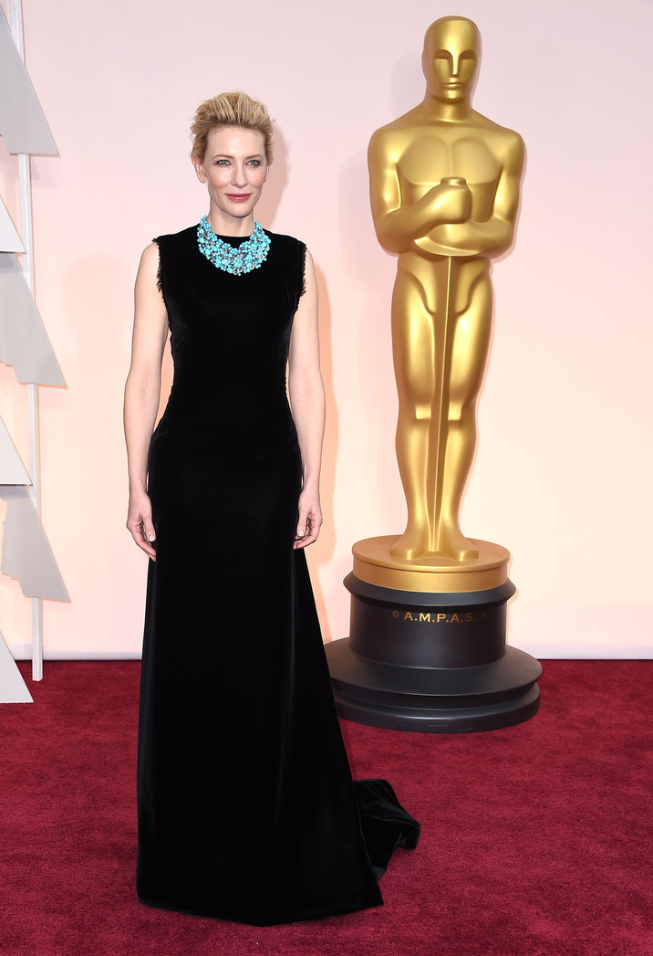 HOLLYWOOD, CA - FEBRUARY 22: Cate Blanchett arrives at the 87th Annual Academy Awards at Hollywood & Highland Center on February 22, 2015 in Hollywood, California. (Photo by Steve Granitz/WireImage)