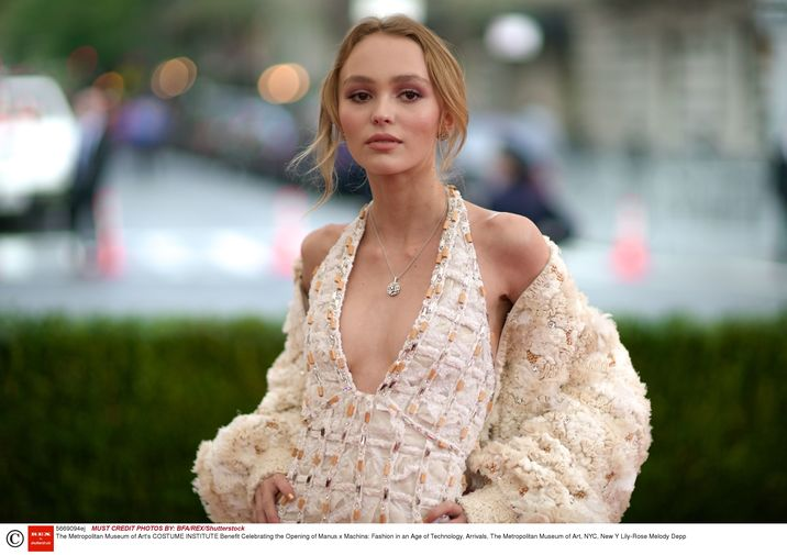 Mandatory Credit: Photo by Julian Mackler/BFA/REX/Shutterstock (5669094ej) Lily-Rose Melody Depp The Metropolitan Museum of Art's COSTUME INSTITUTE Benefit Celebrating the Opening of Manus x Machina: Fashion in an Age of Technology, Arrivals, The Metropolitan Museum of Art, NYC, New Y