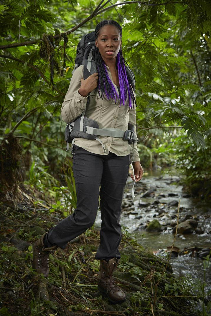 This image is strictly embargoed until 00.01 Monday 2nd February 2015 From betty Bear Grylls' Mission Survive on ITV Pictured: Jamelia. In Bear Grylls' Mission Survive the celebrity expedition team will be pushed to their physical and emotional limits. Issued daily mission briefings by Bear, they will have to navigate treacherous obstacles and journey through dangerous dense jungle, testing their ability to adapt, improvise and overcome in one of the world's most hostile environments. This photograph is (C) betty and can only be reproduced for editorial purposes directly in connection with the programme or event mentioned above, betty or ITV plc. Once made available by ITV plc Picture Desk, this photograph can be reproduced once only up until the transmission [TX] date and no reproduction fee will be charged. Any subsequent usage may incur a fee. This photograph must not be manipulated [excluding basic cropping] in a manner which alters the visual appearance of the person photographed deemed detrimental or inappropriate by ITV plc Picture Desk. This photograph must not be syndicated to any other company, publication or website, or permanently archived, without the express written permission of ITV Plc Picture Desk. Full Terms and conditions are available on the website www.itvpictures.com For further information please contact: james.hilder@itv.com / 0207 157 3052