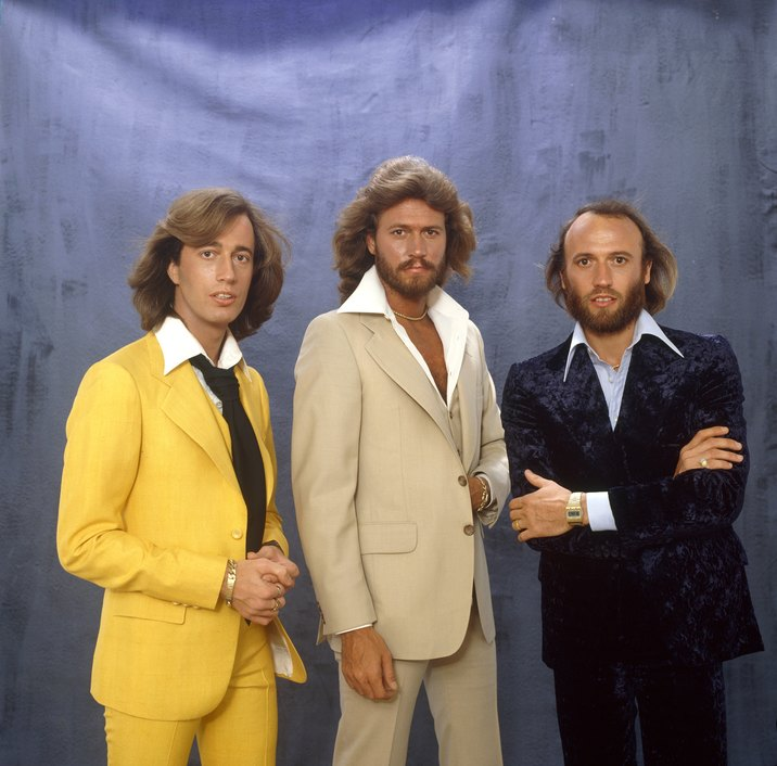 LOS ANGELES - JANUARY 23: Australian Pop group The Bee Gees (L-R Robin Gibb, Barry Gibb and Maurice Gibb) pose for a portrait on January 23, 1979 in Los Angeles, California. (Photo by Ed Caraeff/Getty Images)