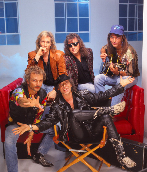 LOS ANGELES - 1992:  German rock band The Scorpions poses for a portrait in 1992 in Los Angeles, California.  (Photo by Harry Langdon/Getty Images)