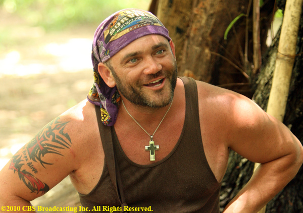 Russell Hantz, of the Zapatera tribe, during the third episode of Survivor: Redemption Island, Wednesday, March 2 (8:00 - 9:00 PM ET/PT) on the CBS Television Network. Photo:Monty Brinton/CBS ©2010 CBS Broadcasting Inc. All Rights Reserved.
