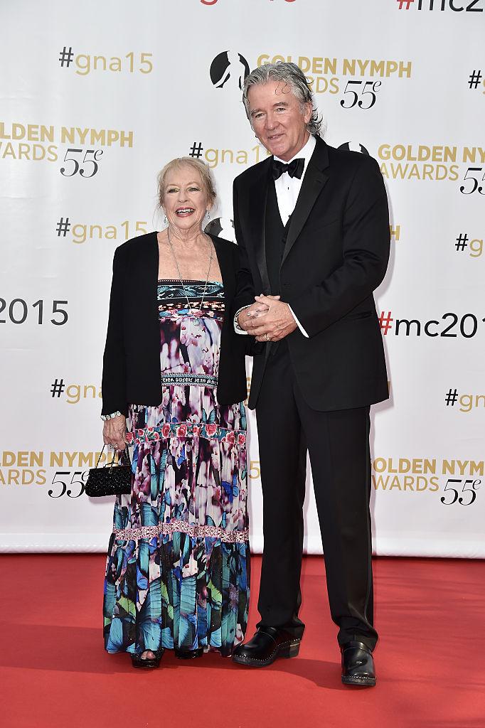 Patrick, alături de soţia lui, în vârstă de 77 de ani.
