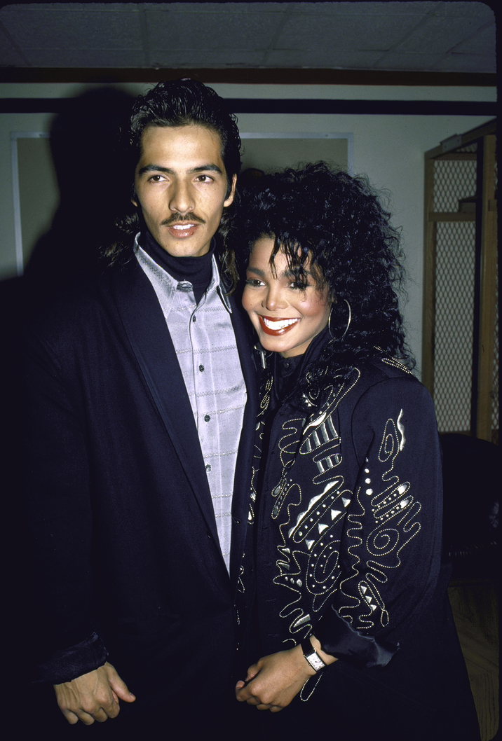 Singers Rene Elizondo and Janet Jackson.  (Photo by Ann Clifford/DMI/The LIFE Picture Collection/Getty Images)