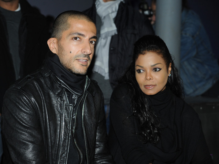 26 Oct 2012, Russia --- ITAR-TASS: MOSCOW, RUSSIA. OCTOBER 25, 2012. American singer and actress Janet Jackson and her fiance Wissam Al Mana attend the Kira Plastinina LUBLU collection runway show during the Volvo Fashion Week. (Photo ITAR-TASS / Alexandra Mudrats) --- Image by © Mudrats Alexandra/ITAR-TASS Photo/Corbis