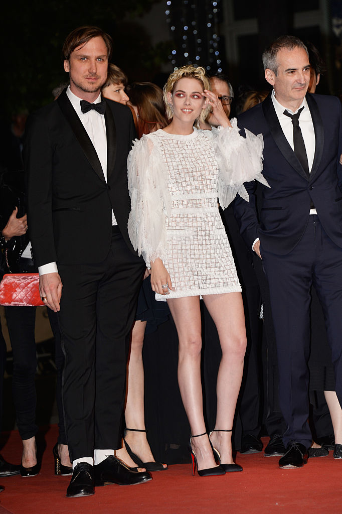 "CANNES, FRANCE - MAY 17:  Actor Lars Eidinger, actress Kristen Stewart and director Olivier Assayas attend the ""Personal Shopper"" premiere during the 69th annual Cannes Film Festival at the Palais des Festivals on May 17, 2016 in Cannes, France.  (Photo by Pascal Le Segretain/Getty Images)"