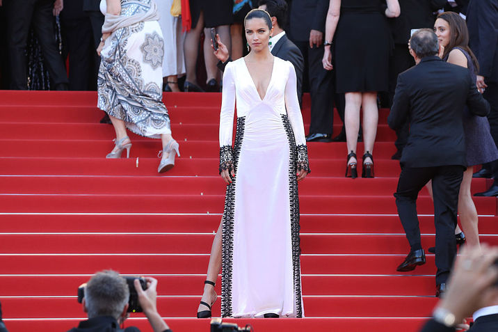 "CANNES, FRANCE - MAY 17:  Adriana Lima attends the ""Julieta"" premiere during the 69th annual Cannes Film Festival at the Palais des Festivals on May 17, 2016 in Cannes, France.  (Photo by Andreas Rentz/Getty Images)"