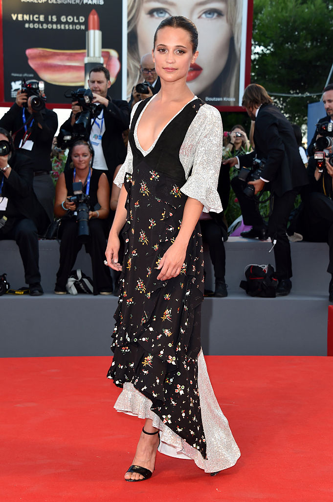 VENICE, ITALY - SEPTEMBER 01:  Alicia Vikander attends the premiere of 'The Light Between Oceans' during the 73rd Venice Film Festival at Sala Grande on September 2, 2016 in Venice, Italy.  (Photo by Pascal Le Segretain/Getty Images)