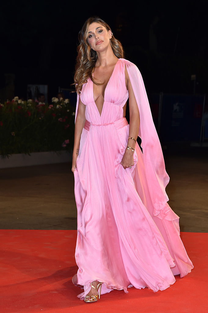 VENICE, ITALY - SEPTEMBER 01:  Belen Rodriguez attends the premiere of 'Arrival' during the 73rd Venice Film Festival at Sala Grande on September 1, 2016 in Venice, Italy.  (Photo by Pascal Le Segretain/Getty Images)