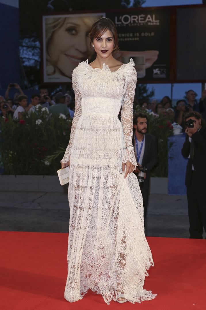 Rocio Munoz Morales walking the red carpet for the premiere of the film Hacksaw Ridge as part of the 73rd Venice International Film Festival (Mostra) in Venice, Italy; on September 4, 2016. Photo by Marco Piovanotto/ABACAPRESS.COM