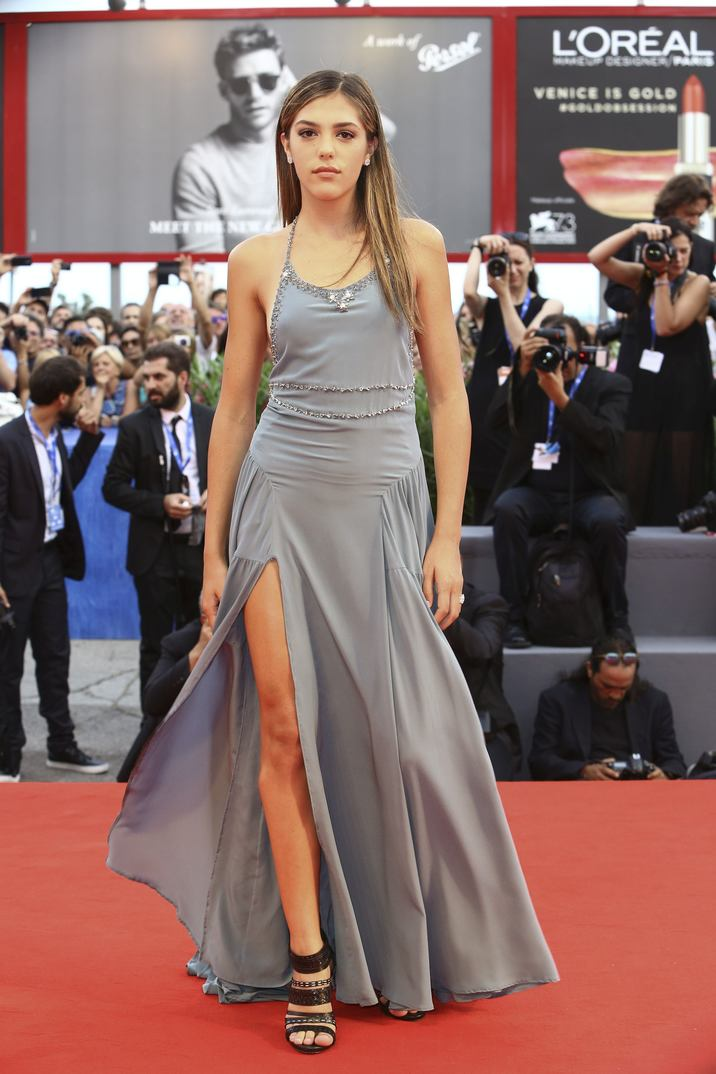 Sisine Stallone walking the red carpet for the premiere of the film Hacksaw Ridge as part of the 73rd Venice International Film Festival (Mostra) in Venice, Italy; on September 4, 2016. Photo by Marco Piovanotto/ABACAPRESS.COM