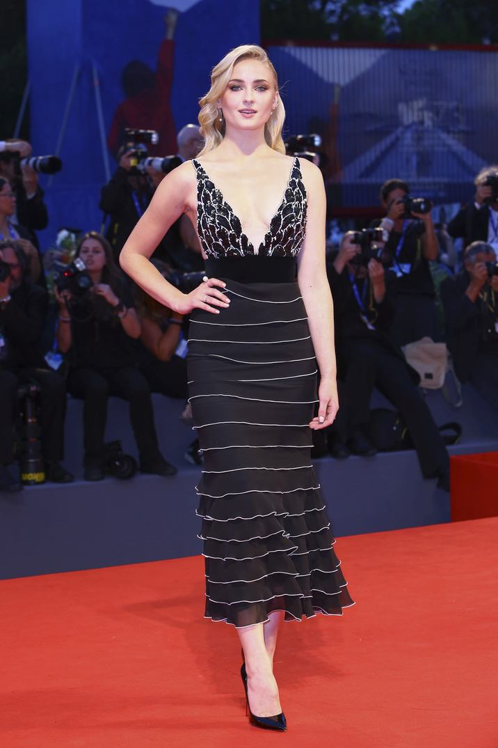Sophie Turner walking the red carpet for the premiere of the film Hacksaw Ridge as part of the 73rd Venice International Film Festival (Mostra) in Venice, Italy; on September 4, 2016. Photo by Marco Piovanotto/ABACAPRESS.COM