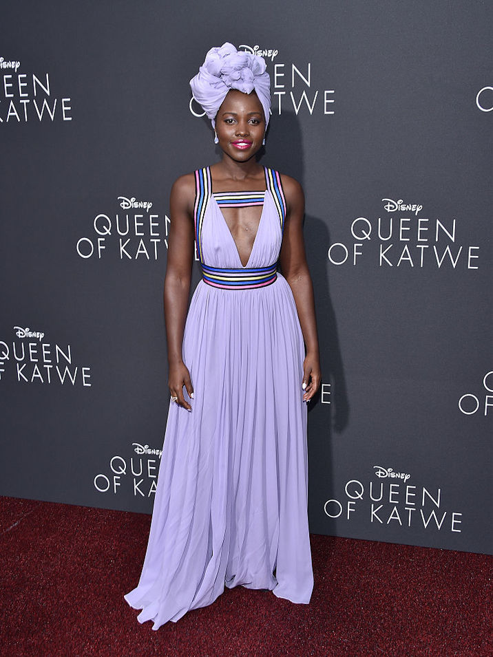 "attends the premiere of Disney's ""Queen Of Katwe"" at the El Capitan Theatre on September 20, 2016 in Hollywood, California."