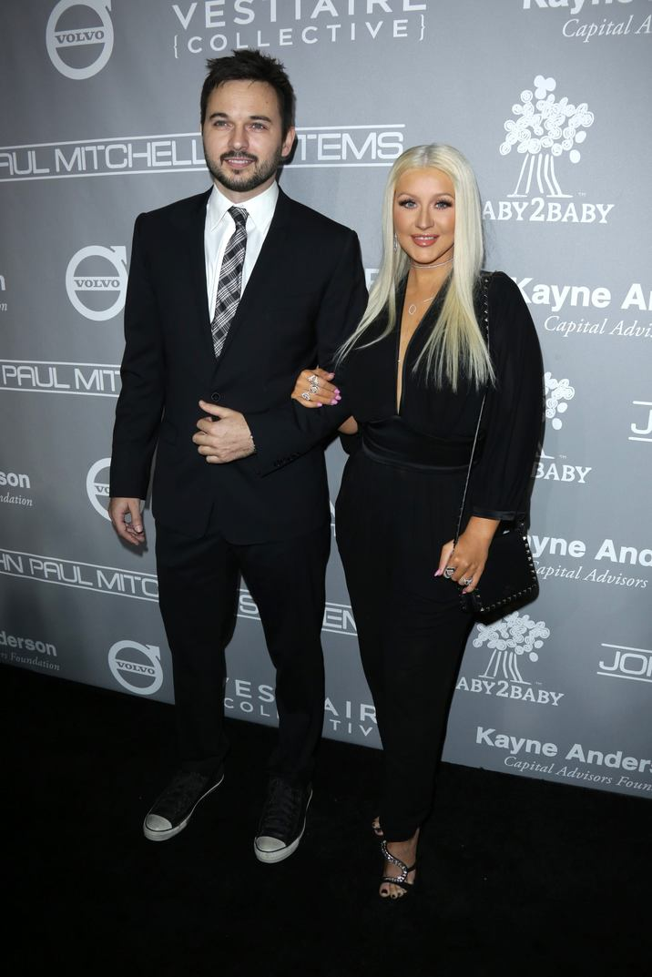 Mandatory Credit: Photo by Jim Smeal/BEI/Shutterstock (7431596cz) Christina Aguilera and Matt Rutler The Fifth Annual Baby2Baby Gala, Arrivals, Los Angeles, USA - 12 Nov 2016