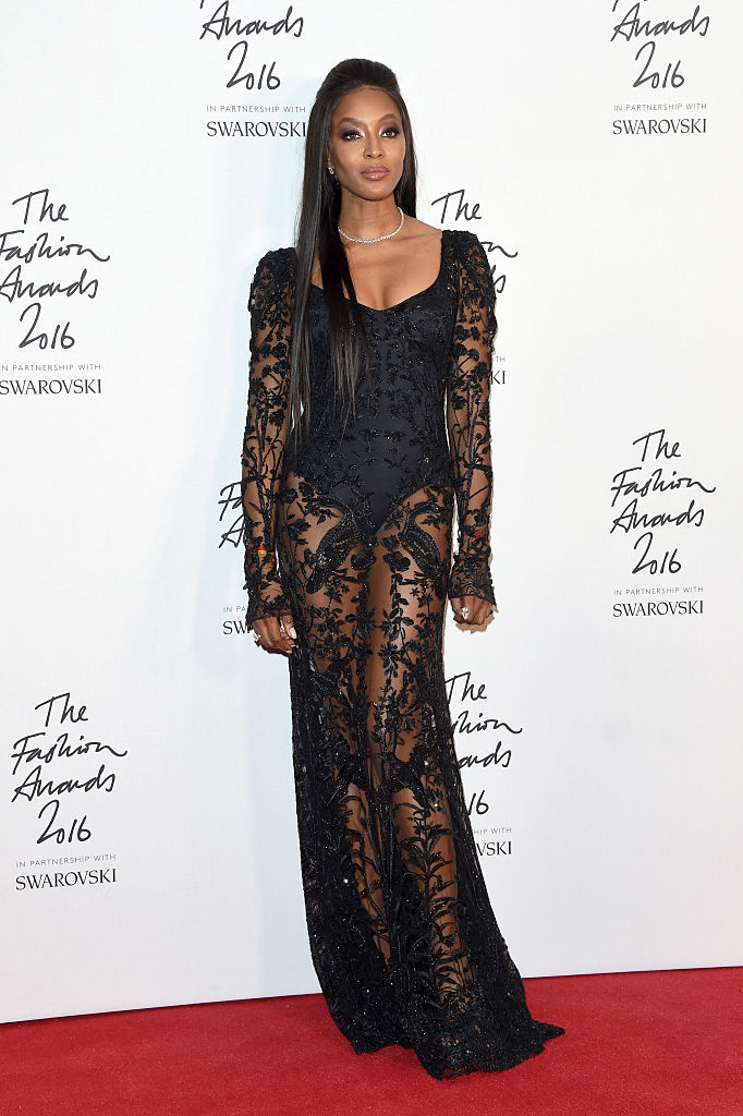 LONDON, ENGLAND - DECEMBER 05:  Model Naomi Campbell poses in the winners room at The Fashion Awards 2016 at Royal Albert Hall on December 5, 2016 in London, England.  (Photo by Stuart C. Wilson/Getty Images)