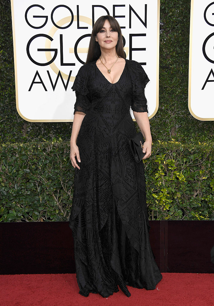 BEVERLY HILLS, CA - JANUARY 08:  Actress Monica Bellucci attends the 74th Annual Golden Globe Awards at The Beverly Hilton Hotel on January 8, 2017 in Beverly Hills, California.  (Photo by Frazer Harrison/Getty Images)
