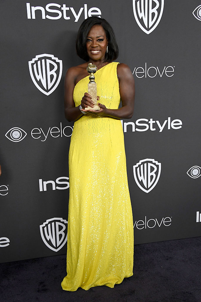 BEVERLY HILLS, CA - JANUARY 08:  Actress Viola Davis attends the 18th Annual Post-Golden Globes Party hosted by Warner Bros. Pictures and InStyle at The Beverly Hilton Hotel on January 8, 2017 in Beverly Hills, California.  (Photo by Frazer Harrison/Getty Images)