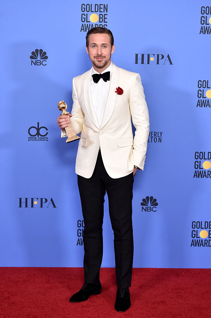 poses in the press room during the 74th Annual Golden Globe Awards at The Beverly Hilton Hotel on January 8, 2017 in Beverly Hills, California.