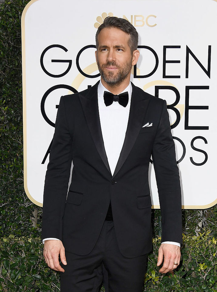 BEVERLY HILLS, CA - JANUARY 08: Actor Ryan Reynolds attends the 74th Annual Golden Globe Awards at The Beverly Hilton Hotel on January 8, 2017 in Beverly Hills, California. (Photo by Frazer Harrison/Getty Images)