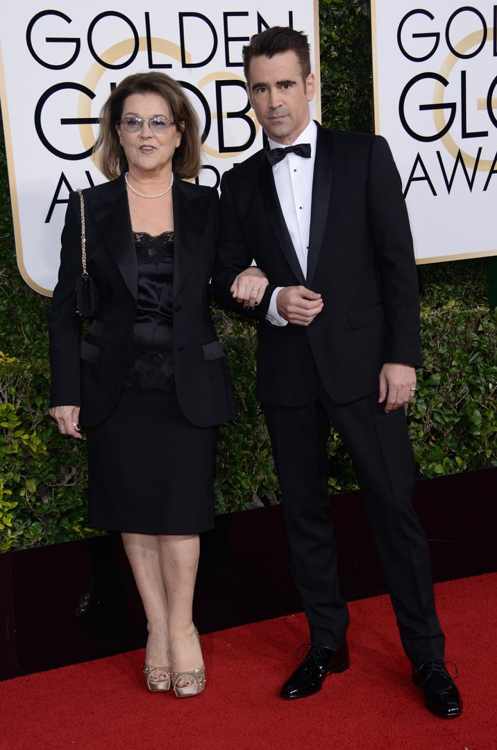 52277361 Celebrities arriving at the 74th Golden Globe Awards at the Beverly Hilton Hotel in Beverly Hills, California on January 8, 2016. Celebrities arriving at the 74th Golden Globe Awards at the Beverly Hilton Hotel in Beverly Hills, California on January 8, 2016. Pictured: Colin Farrell, Rita Farrell FameFlynet, Inc - Beverly Hills, CA, USA - +1 (310) 505-9876 RESTRICTIONS APPLY: NO FRANCE