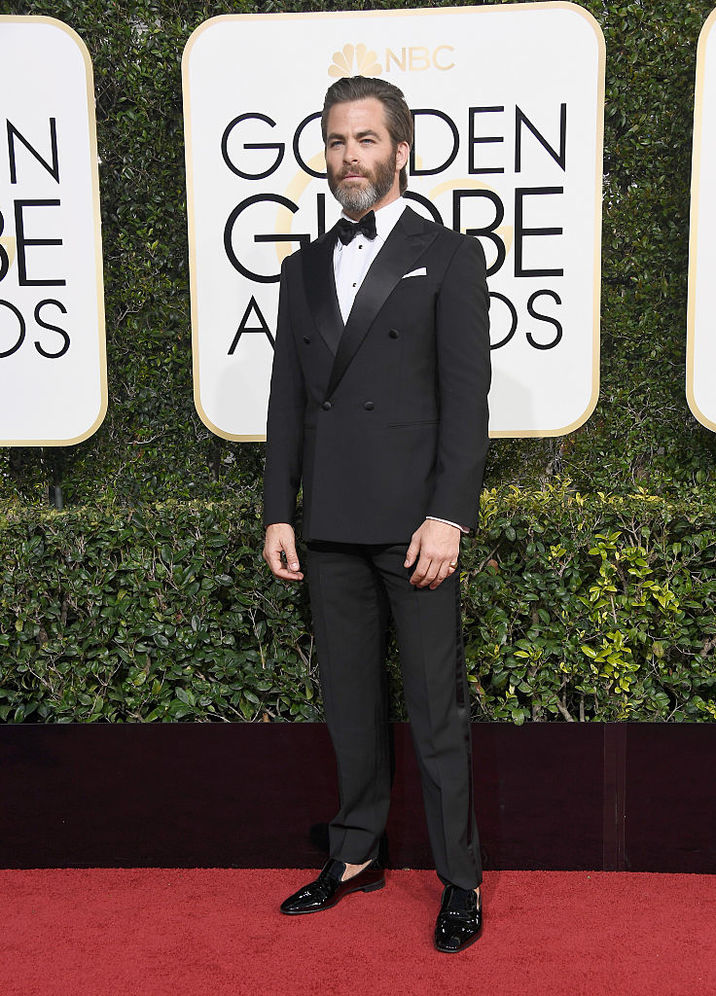 BEVERLY HILLS, CA - JANUARY 08: Actor Chris Pine attends the 74th Annual Golden Globe Awards at The Beverly Hilton Hotel on January 8, 2017 in Beverly Hills, California. (Photo by Frazer Harrison/Getty Images)