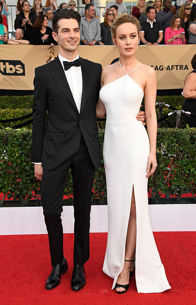 LOS ANGELES, CA - JANUARY 29: Musician Alex Greenwald (L) and actor Brie Larson attend The 23rd Annual Screen Actors Guild Awards at The Shrine Auditorium on January 29, 2017 in Los Angeles, California. 26592_008 (Photo by Frazer Harrison/Getty Images)